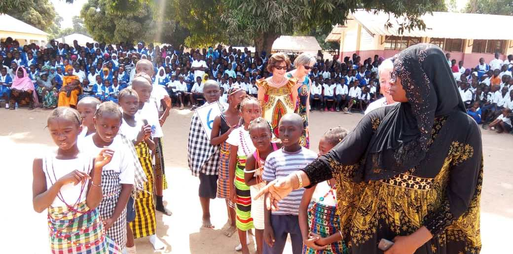 picture from hand-over of renovated school in Brufut Gambia